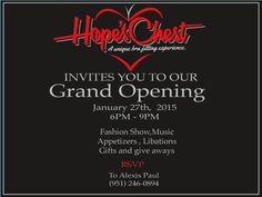 You're Invited to our GRAND OPENING! January 27th!