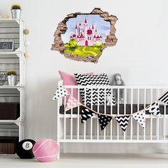 3D Wandtattoo Prinzessin / Schloss   Tolle Wandgestaltung Für Das  Kinderzimmer Einer Kleinen Prinzessin #kinderzimmer