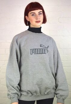 Vintage 90's Puma Sweatshirt from East End Thrift Store. #ethicalfashion #vintage