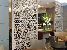 commercial design inspiration: tableaux® veneer decorative screens