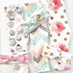 Cute bows & leggings by @topknotbands #littlesmilemakers #spoonflower #cupcake #illustration #patterndesign #pattern #fabric #print #fashion