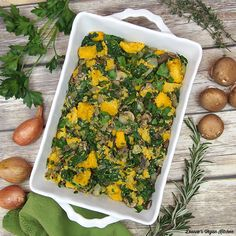 Spinach-Mushroom Polenta Stuffing