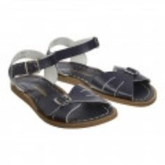 Salt-Water Navy Youth Classic Sandals: The sandals you can wear in the water ( yes - really!! ). Designed by Hoy in the USA it offers an adjustable front with cut-out vents on the toe strap. The Classic maintains the nostalgic feel and pared back style of the Salt-Water Original. The fit is slightly narrower than the Original, but just like the Original – you can get them wet!