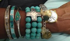 Loving our Sterling silver, turquoise and brass combos! Check out more at mysilpada.com/kristen.smitherman.