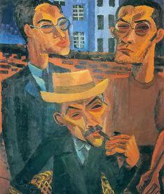 Der Vater und Seine Sohne by Conrad Felixmüller, (German 1897-1977)