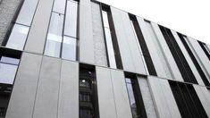 Precast concrete cladding / textured / panel DECOMO