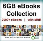 2000 eBooks Package Collection 6GB /with Master/ Resell Rights PDF Free Shipping