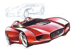Daily sketch: the 2000 Pininfarina Rossa by Ken Okuyama   Check Ken Okuyama's website at http://www.kenokuyamadesign.com/