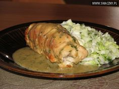 Koperkowe roladki z kurczaka Polish Recipes, Entrees, Pork, Food And Drink, Turkey, Favorite Recipes, Dishes, Chicken, Meat