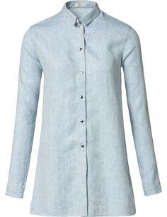 SEY-Studio visgraat blouse lichtblauw