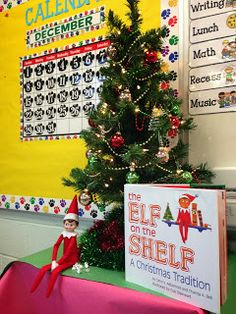 Elf on the Shelf Classroom Reveal..some really cute ideas for an elf in the classroom!