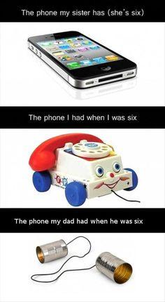 generation gaps. phones