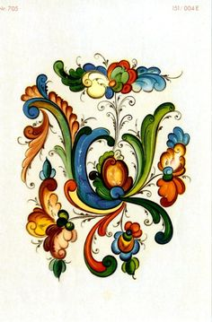 rosemaling decals | Two Rosemaling Rosemal decals by bobbinrobin on Etsy
