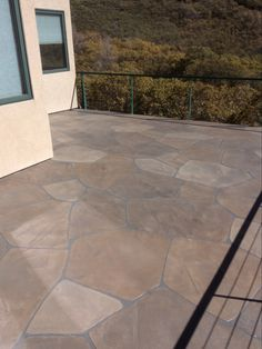 Plidek.com was the product used on this Salt Lake City deck. Looks like flagstone and it is completely waterproofed! Done by stonetexdesign.com