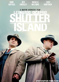 Shutter Island Leonardo DiCaprio, Emily Mortimer, Mark Ruffalo watch this… Movies Showing, Movies And Tv Shows, Detective, Shutter Island, Movie Reels, Mark Ruffalo, Wearing A Hat, Martin Scorsese, About Time Movie