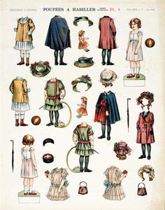 Plate 8, Antique Paper Dolls: The Edwardian Era as Produced by the Imagerie Pellerin at Epinal, Dover Publications
