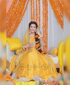 Mayo full Dress of ! Event & Decore by Mua Saniya Shamshad on her Mayon! Bridal Mehndi Dresses, Pakistani Wedding Outfits, Bridal Lehenga Choli, Pakistani Bridal Dresses, Pakistani Wedding Dresses, Bridal Outfits, Fancy Dress Design, Bridal Dress Design, Mayon Dresses