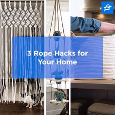 Repurpose Your Rope 3 Decorative DIYs to Try is part of Room Decor DIY Videos - Looking for an easy way to personalize your space These decorative DIYs should do the trick Rope Crafts, Diy Home Crafts, Diy Crafts Videos, Diy Videos, Diy Home Decor, Diy Projects Videos, Diy Room Decor Videos, Diy Wedding Video, Video Backdrops