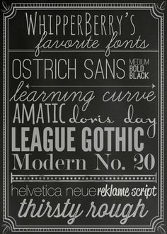 WhipperBerrys Favorite Fonts