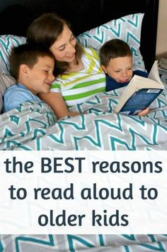 Benefits of reading aloud to older children. Do you read aloud to your older kids, too?