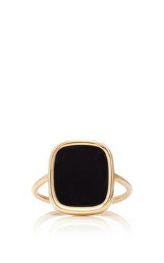 Ginette NY Antique Black Onyx Ring