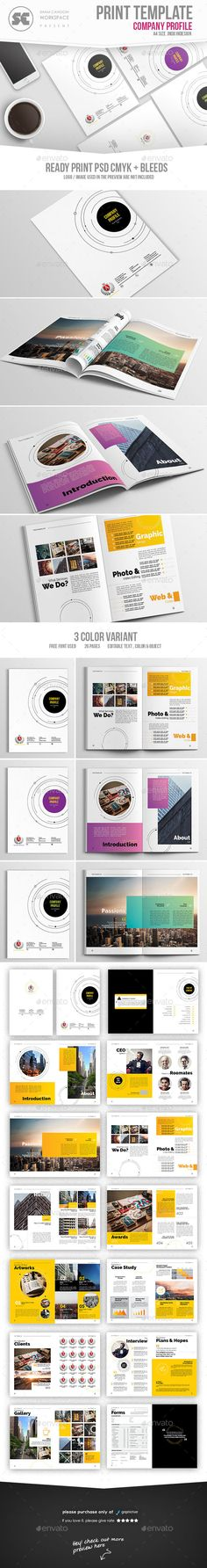 Company Profile Pages Company Profile Brochure Template And - Company profile brochure template