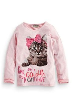 Buy Pink Cattitude T-Shirt (3-16yrs) from the Next UK online shop