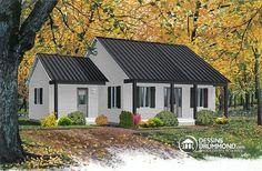 Alternative Plan de maison 1 étage avec 2 entrées, 2 chambres et galerie arbitrée - Beaufort 2