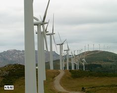 Photo taken in one of the eolic park in north of Galicia, Spain     Everything you need to know about clean energy learn more at www.self-sustainable-living.com