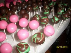 - Camo cake pops this would be cool for gender reveal!!! Pink cake or blue cake!!!