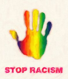 """stop racism"" by Adam Asar 