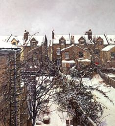 Snow in Wandsworth - oil painting by Sarah Bryant