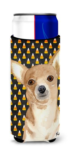 Candy Corn Chihuahua Halloween Ultra Beverage Insulators for slim cans RDR3016MUK