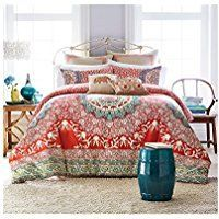 Discover the best bohemian bedding sets comforters quilts and duvet covers you will love. Our boho chic bedding is absolutely incredible in any bohemian themed bedroom. Boho Chic Bedding, Bohemian Bedding Sets, Boho Comforters, White Duvet Covers, Duvet Cover Sets, Jessica Simpson Bedding, Beautiful Bedding Sets, Beautiful Bedrooms, Western Bedding