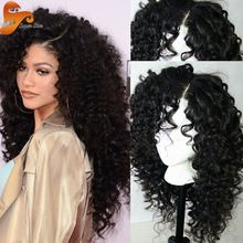 Brazilian Full Lace Human Hair Wigs For Black Women Virgin Hair Glueless Full Lace Wigs With Baby Hair,Deep Curly Lace Front Wig(China (Mainland))