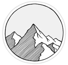 Mountains Sketch Sticker Drawing Tips mountain drawing Small Drawings, 3d Drawings, Realistic Drawings, Doodle Drawings, Doodle Art, Pencil Drawings, Easy Nature Drawings, Sketchbook Drawings, Drawing Sketches