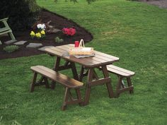 Looking for A & L Furniture Yellow Pine Traditional Bench, Cedar Stain ? Check out our picks for the A & L Furniture Yellow Pine Traditional Bench, Cedar Stain from the popular stores - all in one. Picnic Table Bench, Wooden Picnic Tables, Table And Bench Set, Outdoor Tables, A Table, Outdoor Lounge, Outdoor Ideas, Dining Table, Picnic Area