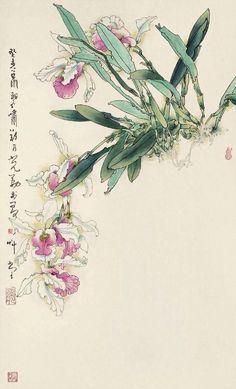 Sumi E Painting, Korean Painting, China Painting, Japanese Painting, Japanese Drawings, Japanese Art, Watercolor Flowers, Watercolor Art, Gravure Photo