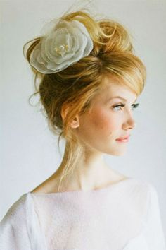 Cute wedding updo!