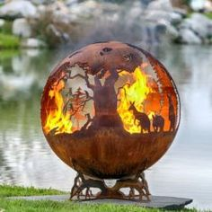 Down Under - Australia Fire Pit Sphere