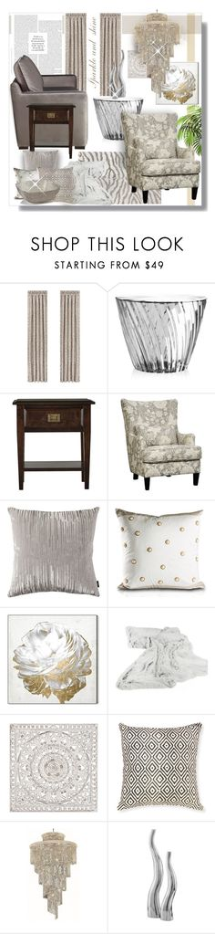 """""""Untitled #4216"""" by kellie-debrandt-mescher ❤ liked on Polyvore featuring interior, interiors, interior design, home, home decor, interior decorating, J. Queen New York, Kartell, Oliver Gal Artist Co. and Selamat"""