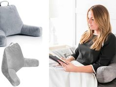 Choosing the right pillow is important for a good night sleep. These are the 7 best sleeping pillows we could find. Bed Reading Pillow, Reading In Bed, Most Comfortable Pillow, Contour Pillow, Old Pillows, Box Bed, Traditional Pillows, Healthy Sleep, Back Pillow