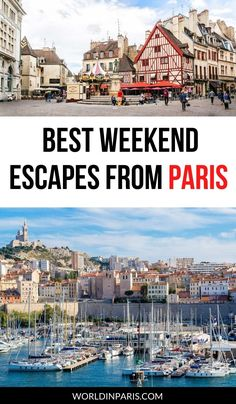 Pack your bags and catch a train; these are the best weekend getaways from Paris by train! #paris #travel