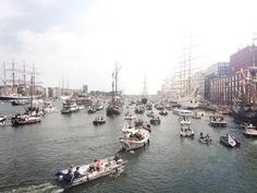 Ships parade in Amsterdam
