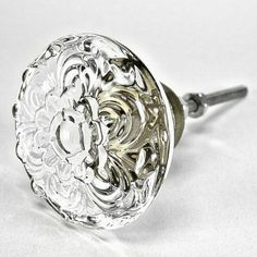 Set/8 Daisy Glass Cabinet Knobs Kitchen Drawer by knobhookandpull