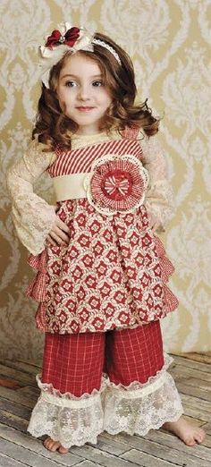 Persnickety Red Olivia Multi Print Ruffle Back Jumper with Red Holiday Belt - MUST have!
