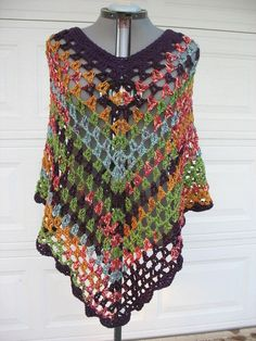 Crochet+Ponchos+for+Women | Plus Size Crochet Poncho, Cover Up, Wrap, for Teens and Women- Purple ...