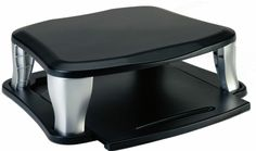 The Targus Universal Monitor Stand houses your laptop computer and docking device, saving valuable desktop space. The stand can support an external monitor weig Pc Computer, Laptop Computers, Desktop, Monitor Stand, Docking Station, Computer Accessories, Stand Up, Cuba, Storage Spaces