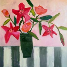 """Annie O'Brien Gonzales: Contemporary Abstract Still Life Flower Art Painting """"For Sentimental Reasons"""" by Santa Fe Artist Annie O'Brien Gonzales-http://annieobriengonzalespaintings.blogspot.com/2015/01/contemporary-abstract-still-life-flower_26.html"""