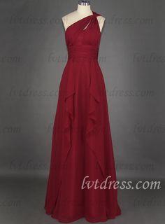 mother of the bride dresses for inverted body shape | Red-Mother-Of-The-Bride-Dresses-Of-Empire-One-shoulder-Floor-length ...
